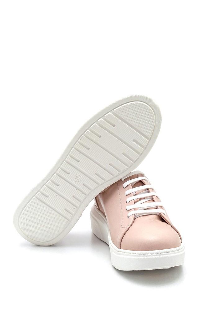 5638334935 Kadın Deri Metal Detaylı Sneaker