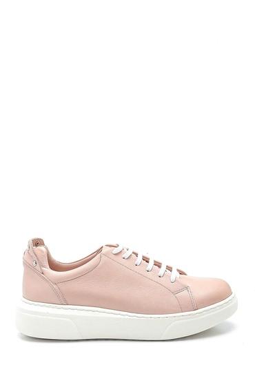 Pudra Kadın Deri Metal Detaylı Sneaker 5638334935