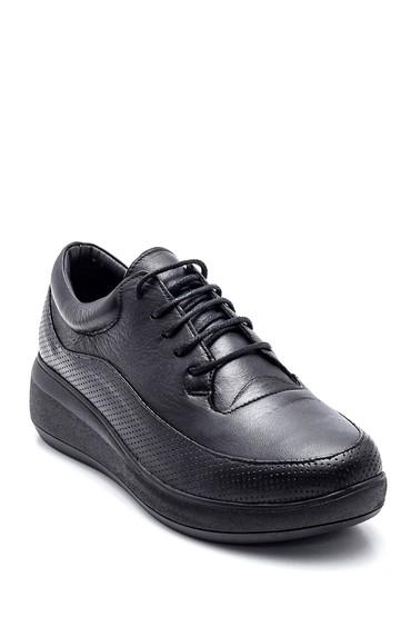 Siyah Kadın Deri Ayakkabı 5638334971