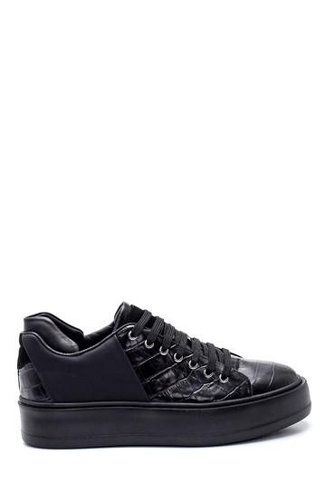 Siyah Erkek Deri Sneaker 5638337840