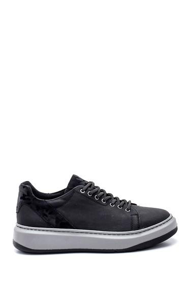 Siyah Erkek Baskı Detaylı Sneaker 5638340097