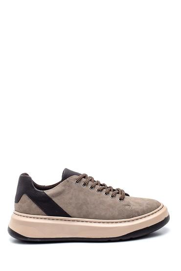 Bej Erkek Baskı Detaylı Sneaker 5638340098