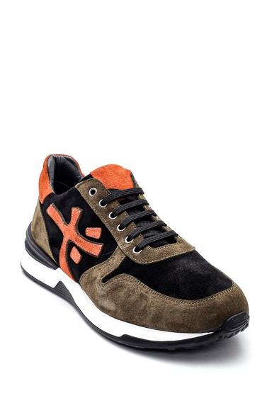 Haki Erkek Süet Deri Sneaker 5638347894