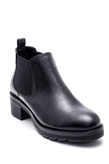 Siyah Kadın Lastikli Topuklu Bot 5638349090