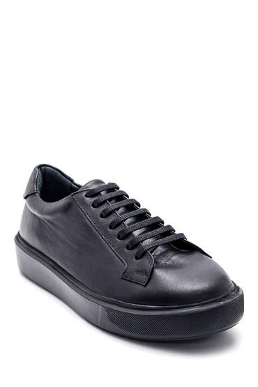 Siyah Kadın Deri Sneaker 5638347061