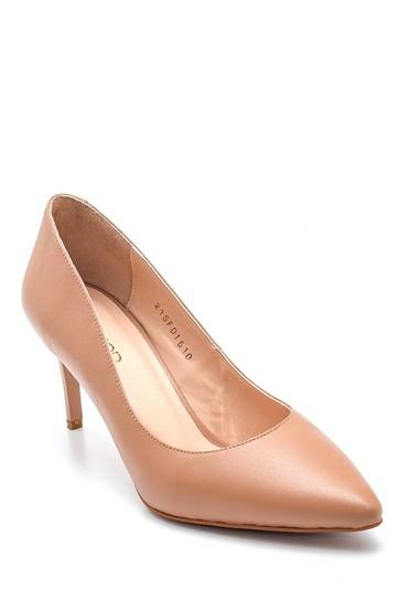 Pembe Kadın Deri Klasik Stiletto 5638352532