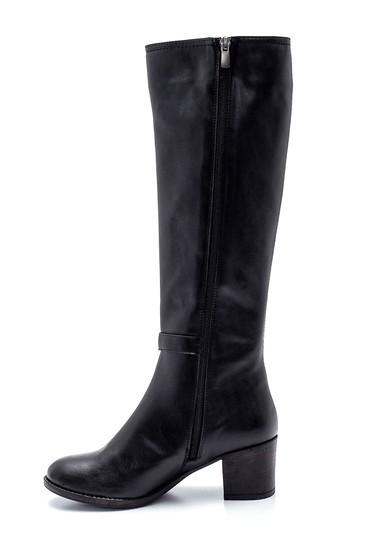 Siyah Kadın Fermuarlı Topuklu Çizme 5638304326