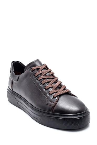 Kahverengi Erkek Deri Sneaker 5638309612