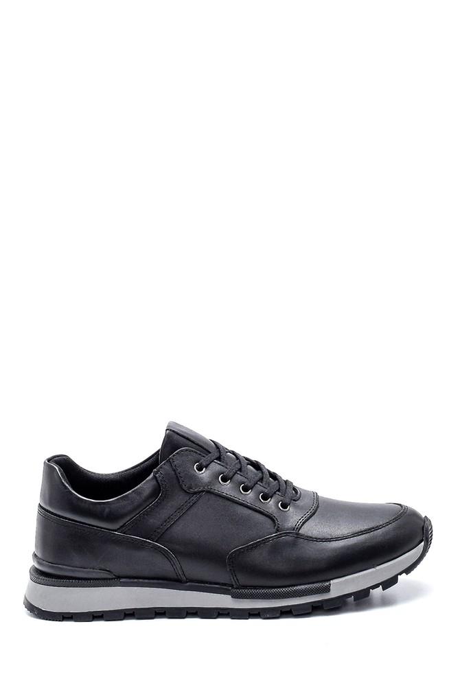Siyah Erkek Deri Sneaker 5638320860