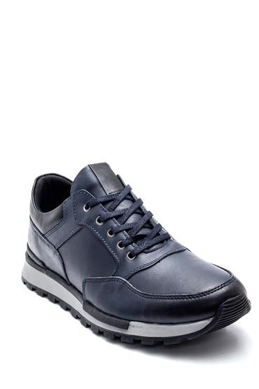 Lacivert Erkek Deri Sneaker 5638320839