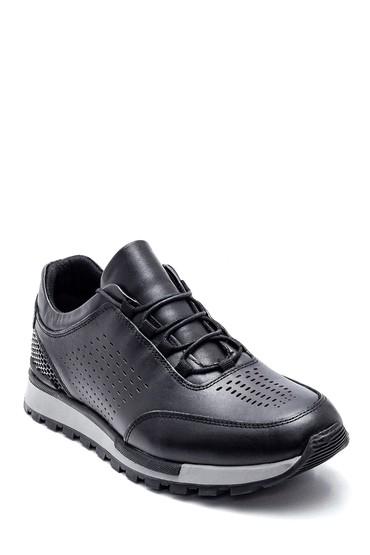 Siyah Erkek Deri Sneaker 5638320873