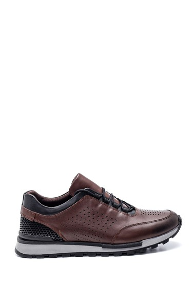 Kahverengi Erkek Deri Sneaker 5638320872