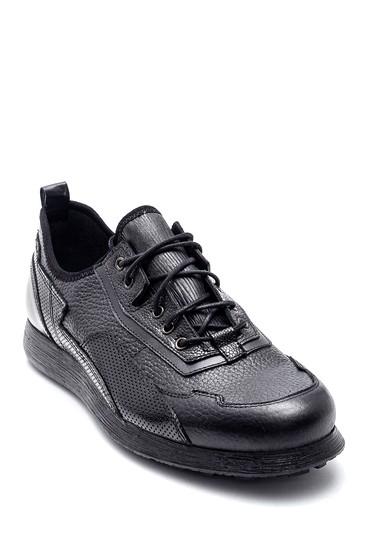 Siyah Erkek Deri Sneaker 5638331349