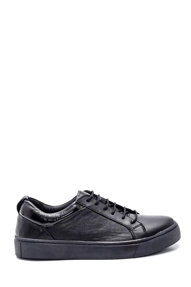 Siyah Kadın Deri Casual Sneaker 5638334903