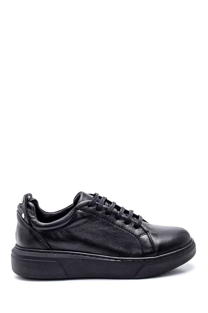 Siyah Kadın Deri Metal Detaylı Sneaker 5638334933
