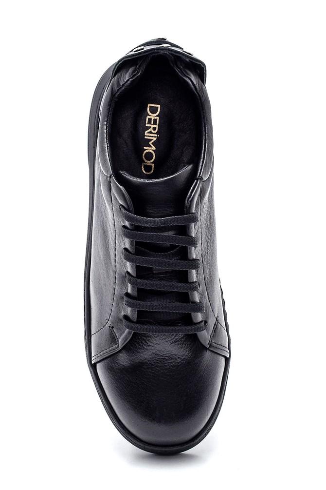 5638334933 Kadın Deri Metal Detaylı Sneaker
