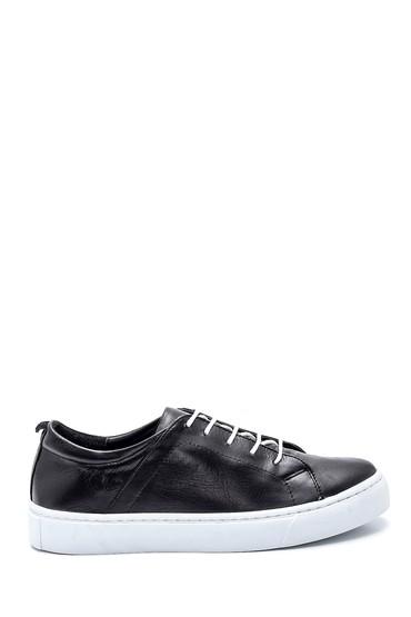 Siyah Kadın Deri Casual Sneaker 5638334951
