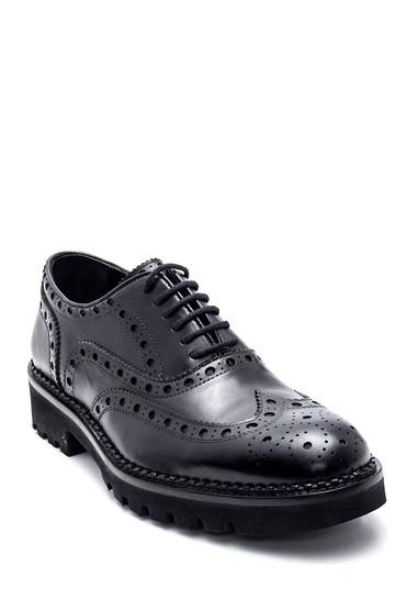 Siyah Erkek Deri Casual Ayakkabı 5638336449