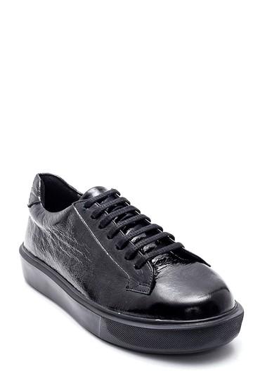 Siyah Kadın Deri Rugan Sneaker 5638346304