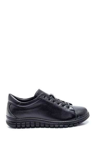Siyah Kadın Deri Comfort Ayakkabı 5638348404