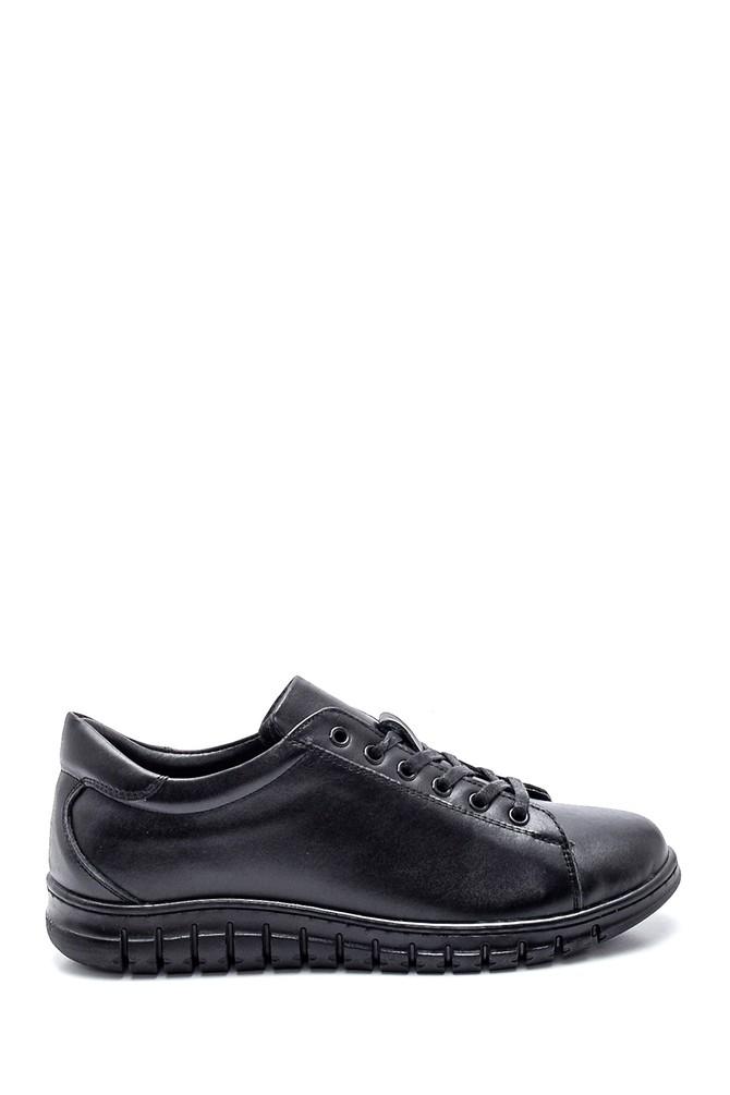 Siyah Kadın Deri Comfort Ayakkabı 5638348406
