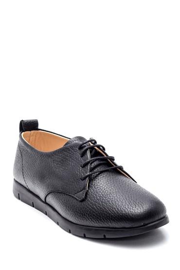 Siyah Kadın Deri Oxford Ayakkabı 5638361849