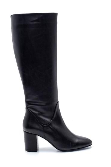 Siyah Kadın Fermuarlı Topuklu Çizme 5638243504