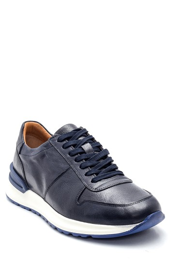 Lacivert Erkek Deri Sneaker 5638317710
