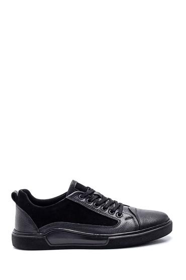 Siyah Erkek Deri Sneaker 5638318794