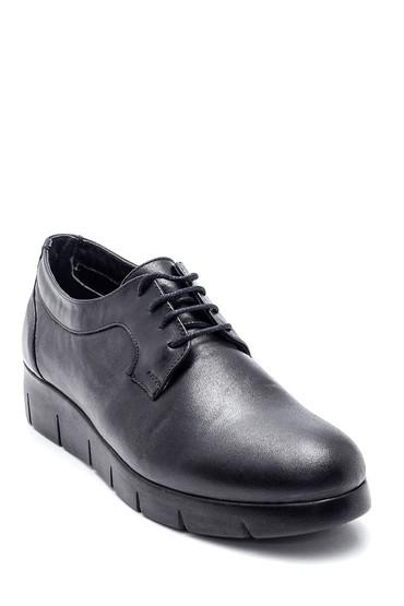 Siyah Kadın Deri Oxford Ayakkabı 5638316857