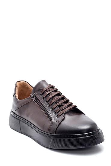 Kahverengi Erkek Deri Sneaker 5638327561