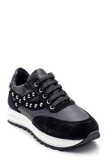 Siyah Kadın Metal Detaylı Sneaker 5638344733