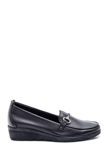 Siyah Kadın Deri Casual Ayakkabı 5638306101