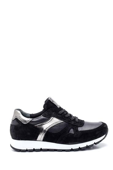 Siyah Kadın Metalik Detaylı Sneaker 5638335822