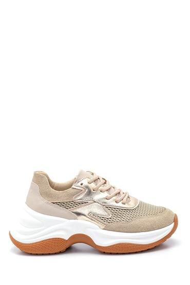 Bej Kadın Yüksek Taban Sneaker 5638343603