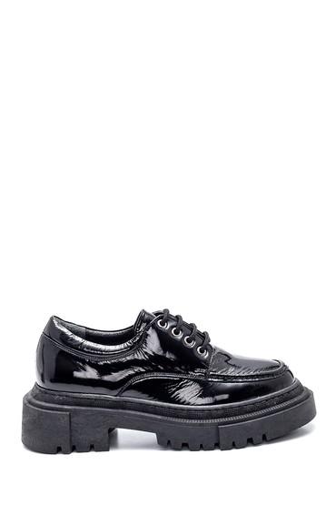 Siyah Kadın Deri Rugan Ayakkabı 5638328333