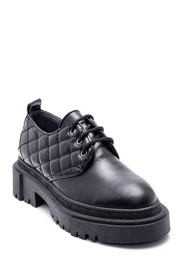 Siyah Kadın Deri Kroko Ayakkabı 5638328345