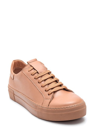 Bej Kadın Deri Sneaker 5638349269