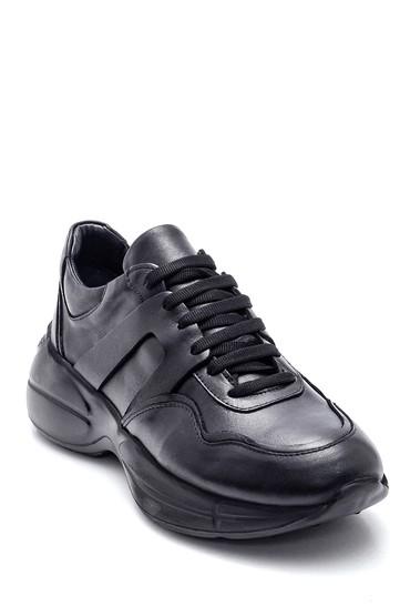 Siyah Kadın Deri Sneaker 5638349279