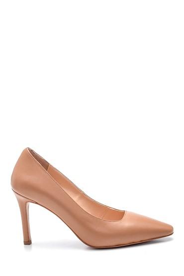Pembe Kadın Deri Topuklu Ayakkabı 5638352578