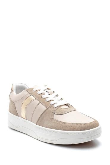Bej Kadın Şerit Detaylı Sneaker 5638328196