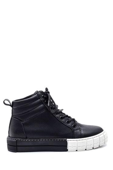 Siyah Kadın Boğazlı Sneaker 5638343690