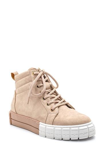 Bej Kadın Süet Boğazlı Sneaker 5638343700