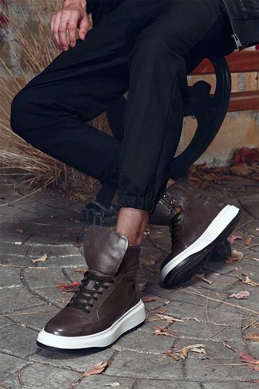 Antrasit Erkek Deri Boğazlı Sneaker 5638317828