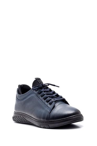 Lacivert Erkek Deri Sneaker 5638320912