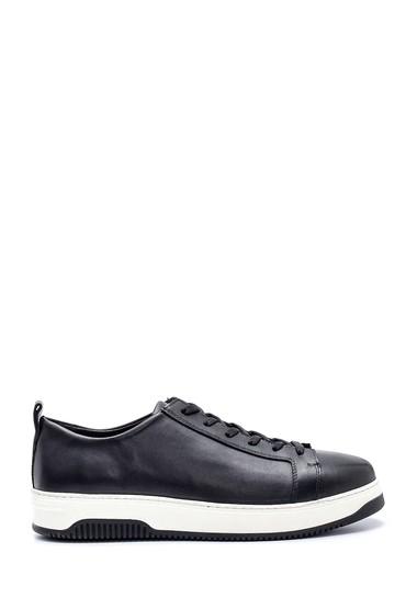 Siyah Erkek Deri Sneaker 5638323536