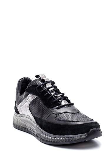 Siyah Kadın Deri Metal Detaylı Sneaker 5638335003