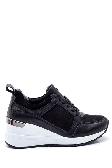 Siyah Kadın Casual Dolgu Topuk Sneaker 5638335861