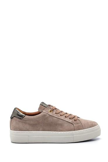 Vizon Kadın Deri Süet Sneaker 5638336835