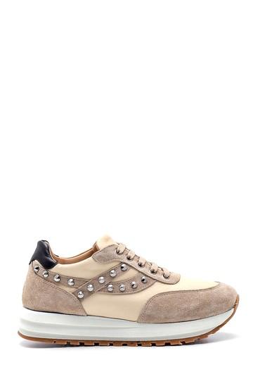 Bej Kadın Metal Detaylı Sneaker 5638344750